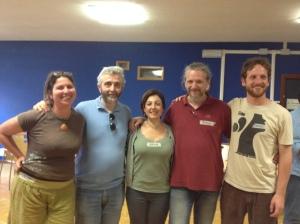 il nuovo consiglio direttivo: Deborah, Giovanni, Silvia, Pierre, Giulio